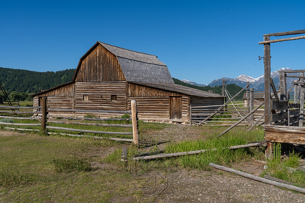 View of the barn in Mormon Row historic distric
