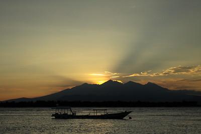 Sunrise above Lombok