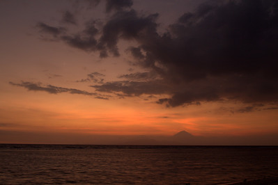 Sunset over Bali
