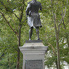 "Commodore John Barry, USN.<br /> Presented to the City of Philadelphia, by the ""Friendly Sons"" of St. Patricks.<br /> He is widely credited as ""The Father of the American Navy"" and was appointed a Captain in the Continental Navy on December 7, 1775. <br /> He was the first Captain placed in command of a US warship commissioned for service under the Continental flag."