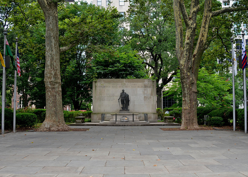 In 1954, the Washington Square Planning Committee decided that, instead of the original proposed monument to Washington, a monument to all soldiers and sailors of the Revolutionary War would be built.<br /> Washington Square, through an easement from the City of Philadelphia. It is now part of Independence National Historical Park.