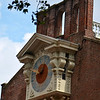 The clock's dials were mounted at the east and west ends of the main building connected by rods to the clock movement in the middle of the building.<br /> During the summer of 1973 a replica of the Thomas Stretch clock was restored to Independence Hall.