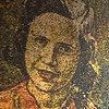 "This is an image of textured art, of ""Mama Carmelina"".<br /> Carmelina's North End, is a great Italian place, suggested by ""Boston"" Ron, enjoyed by all. Warm wine and all. I had a cold brew, and a great view. <br /> ""All meals are cooked to order. Sometimes on the busier nights the kitchen may get a little backed up, please understand that we are carefully and conscientiously preparing each and every dish. It is worth waiting an extra few minutes. Capice?""<br /> ""We do not offer coffee or dessert. Experience the North End Italian style, by patronizing our many nearby caffe's, gelateria's, and pastry shops. These are the after dinner professionals."""