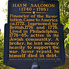 How can you repay a Salomon! How many Stars?<br /> Atop the eagle on the back of the one dollar bill is a field of thirteen stars arranged in the shape of a Star of David. <br /> This was ordered by George Washington who, when he asked Haym Solomon, a wealthy Philadelphia Jew, what he would like as a personal reward for his services to the Continental Army, Solomon said he wanted nothing for himself but that he would like something for his people. The Star of David was the result.