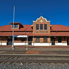 "The New Las Vegas NM depot.<br /> A great area to film a western Part of the old ""Santa Fe Trail"". And they have filmed a lot of movies in the area since 1915, ""The Hazards Of Helen""."