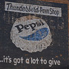Pepsi sign, Las Vegas NM. For the Thunderbird Pawn Shop that used to be in the building.