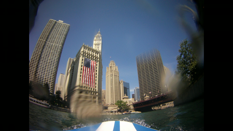 SUP Chicago River Time Lapse Independence Day 2014
