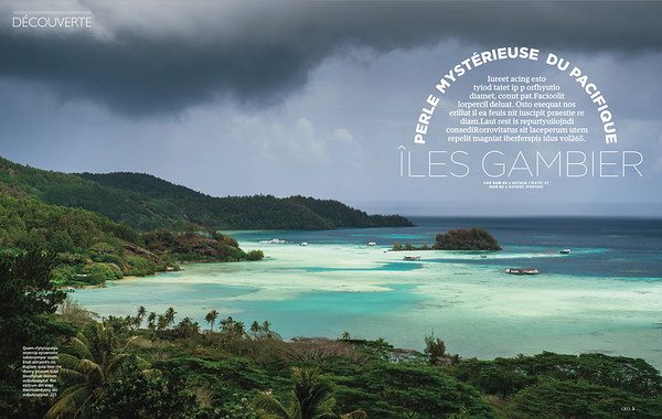 GEO (France) - 16 pages - Gambier archipelago - French Polynesia
