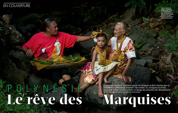 "GEO (France) - FOLDER ""MARQUESAS"" 28 PAGES"