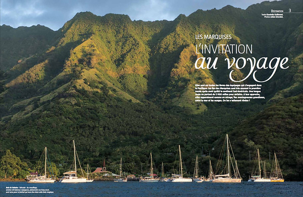 "VOILES & VOILIERS Magazine (France) - ""Sailing Marquesas"" - 8 pages"