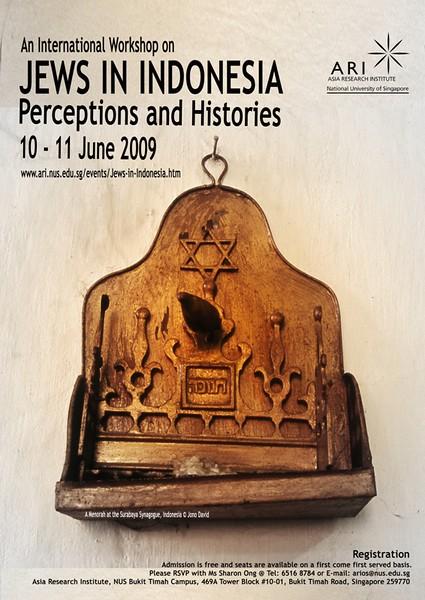 Asia Research Institute, Jakarta, Indonesia. Jews in Indonesia poster advertisement. June 2009