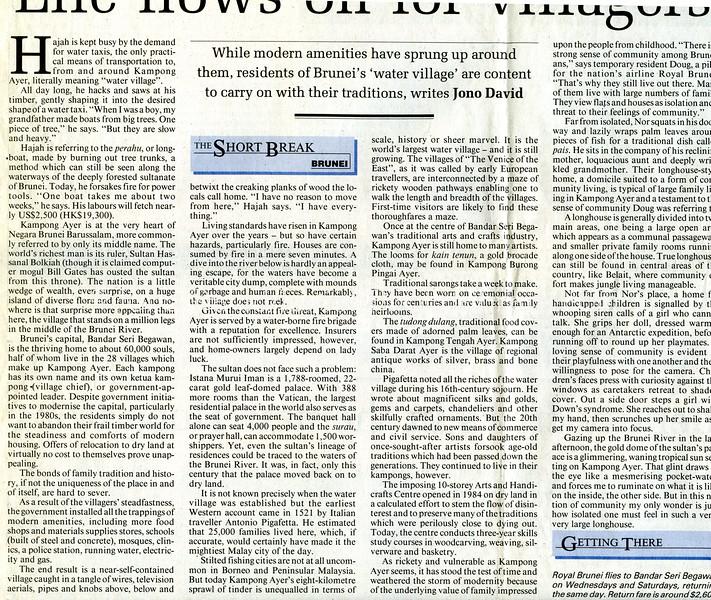 Brunei  South China Morning Post  Hong Kong  Sept 1, 1999