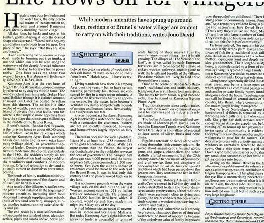 Brunei. South China Morning Post. Hong Kong. Sept 1, 1999