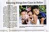 Caye Caulker, Belize  Star Ledger  Newark, NJ, USA  June 8, 2003  1of2