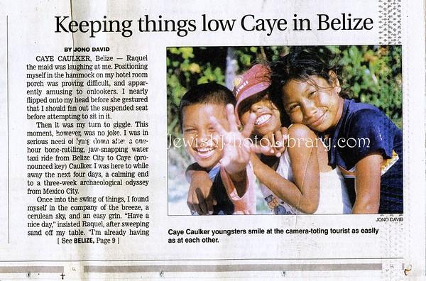 Caye Caulker, Belize. Star Ledger. Newark, NJ, USA. June 8, 2003