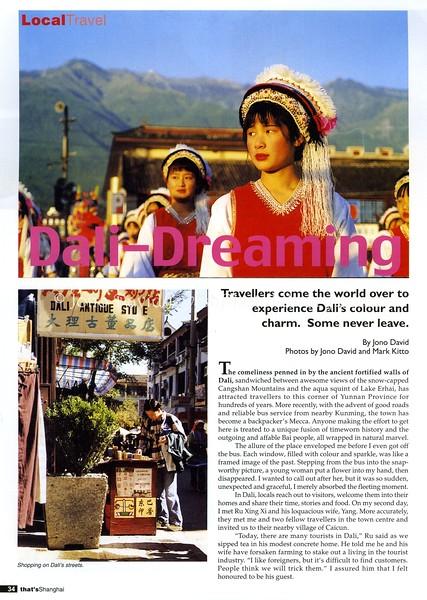Dali. That's Shanghai. Shanghai, China. May 2001