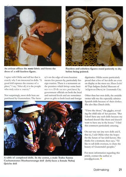 Doll factory  Dollmaking Magazine  Iola, Wisconsin, USA  Aug 2003  4of4