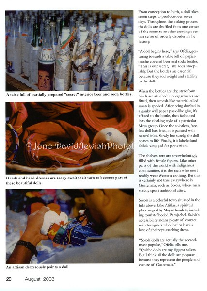 Doll factory  Dollmaking Magazine  Iola, Wisconsin, USA  Aug 2003  3of4