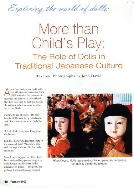 Dolls. Dollmaking Magazine. Iola, WI, USA. Feb 2003