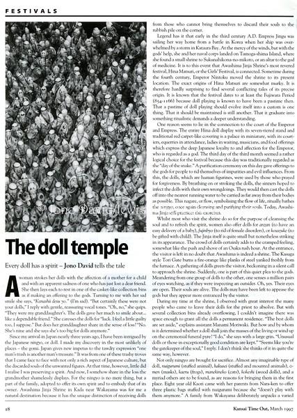 Dolls. Kansai Time Out. Kobe, Japan. March 1997