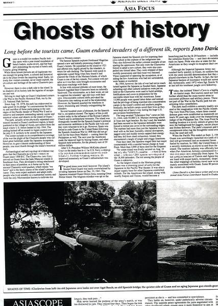 Guam war. Mainichi Daily News. Tokyo, Japan. Aug 12, 1999