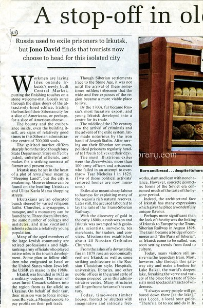 Irkutsk  South China Morning, Post  Hong Kong  June 3, 1999  1of2