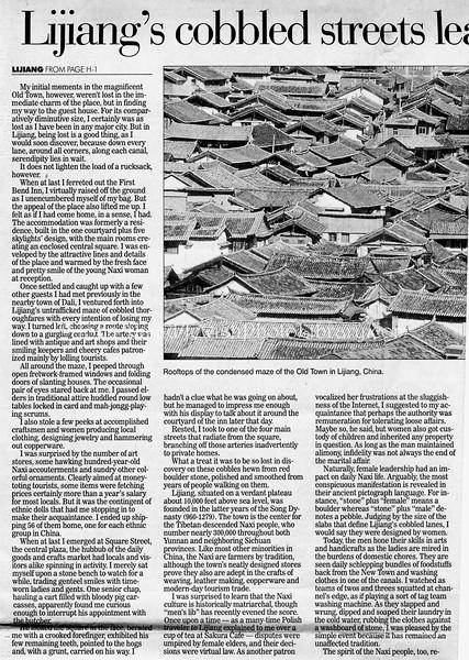 Lijiang  Pittsburg Post-Gazette  Pittsburg, PA, USA  Dec 17, 2000  2of3