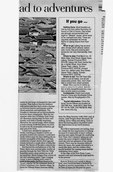Lijiang  Pittsburg Post-Gazette  Pittsburg, PA, USA  Dec 17, 2000  3of3