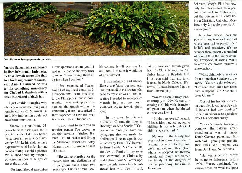 Manado, Indonesia  Jewish Times Asia  May 2007  2of4