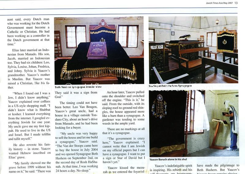 Manado, Indonesia  Jewish Times Asia  May 2007  3of4