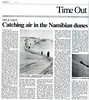 Namibia sand dunes  Japan Times (paper)  Tokyo, Japan  Nov 22, 2000  1of2