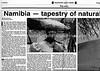 Namibia  Mainichi Daily News  Tokyo, Japan  Mar 23, 2001