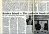 Cape Town, Robben Island  Mainichi Daily News  Tokyo, Japan  Oct 20, 2000