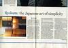 Ryokan  Boston Globe  Boston, MA, USA  Oct 22, 2000  1of4