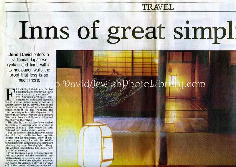 Ryokan  New Zealand Herald (paper)  Auckland, New Zealand  July 11, 2000
