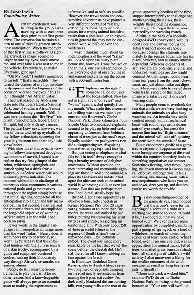 Safari  Mainichi Daily News  Tokyo, Japan  Nov 10, 2000  1of3