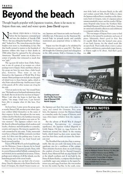 Saipan  Kansai Time Out  Kobe, Japan  Jan 2001