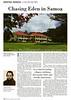 Samoa  Dateline Magazine  Bangkok, Thailand  Third Quarter 2000  1of2