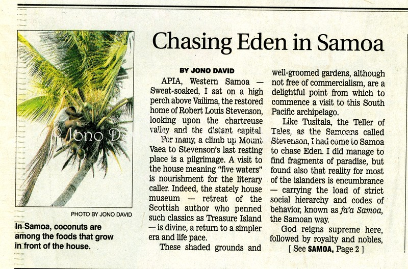 Samoa  Star Ledger  Newark, NJ, USA  Jan 21, 2001  1of3