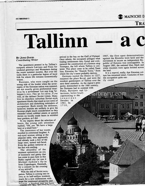 Tallinn  Mainichi Daily News  Tokyo, Japan  July 16, 1999  1of4