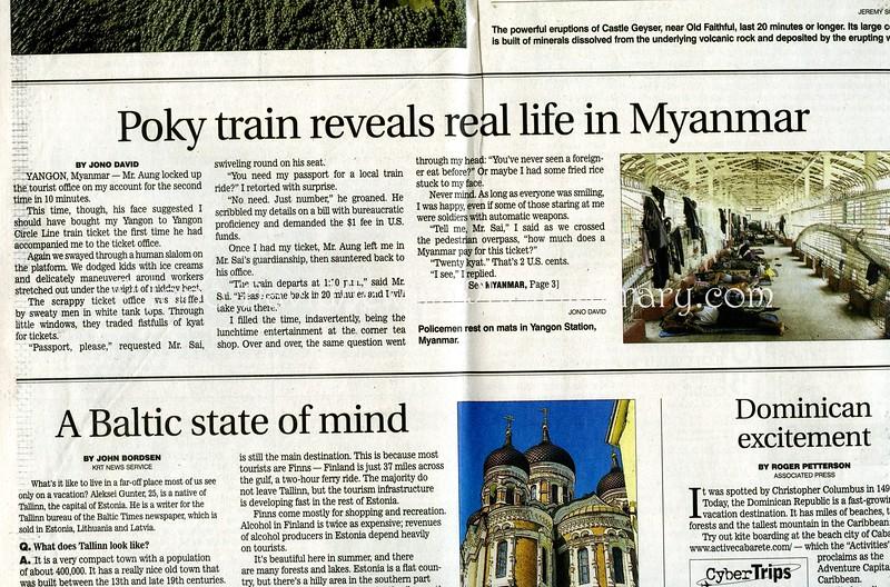 Yangon train  Star Ledger  Newark, NJ, USA  July 3, 2005