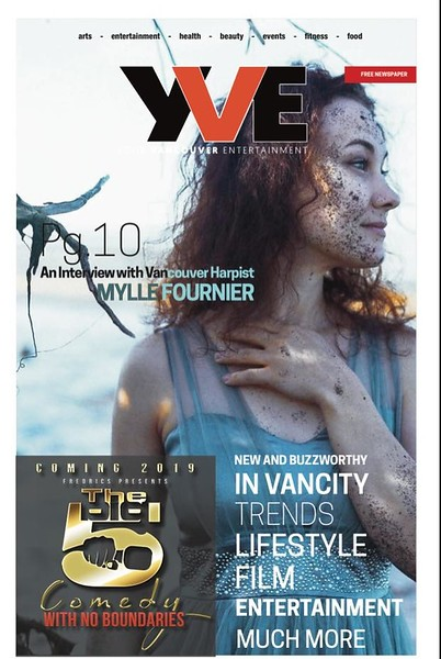 COVERF of YVE MAgazine Mylle Fournier Hrp Artist Interview