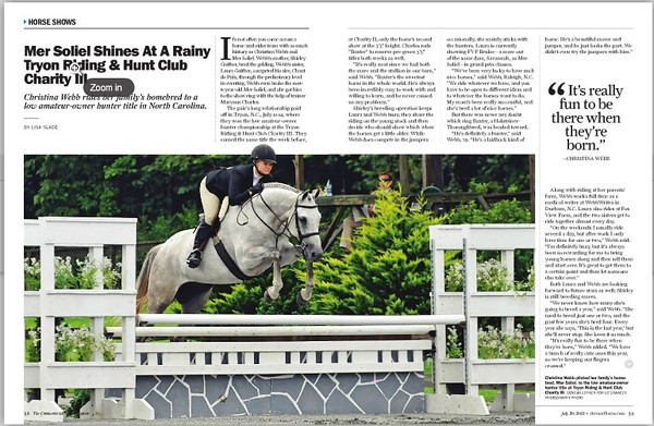 Chronicle of the Horse July 2013