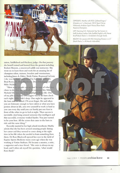 Modern Arabian Horse Magazine Feb 2014