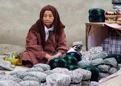 HAT MERCHANTS - KASHGAR, CHINA