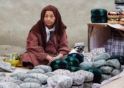 HAT MERCHANTS - KASHGAR, CHINA