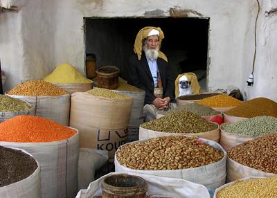 GRAIN SELLERS - SANA'A, YEMEN