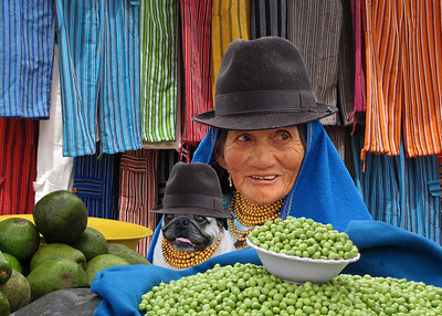 MARKET LADIES - OTAVALO, ECUADOR