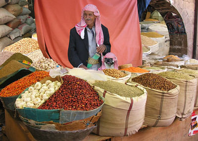 SOUK MERCHANTS - OLD SANA'A, YEMEN