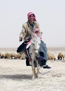 BEDOUIN SHEPHERDS - PALMYRA, SYRIA